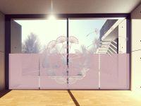 Sichtschutzfolie | Sichtschutz Pusteblumenschirmchen | Pusteblumenschirmchenoptik