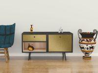 Möbelfolie für Sideboard gold matt