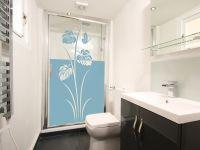 Sichtschutzfolie | Fensterfolie mit Blumendesign | Blumenoptik