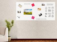 250 x 120 cm | Selbstklebende magnetische Whiteboardfolie | Whiteboard | weiß