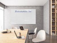 Whiteboardfolie mit Linien, Punkten, oder Kästchen | 130cm breit