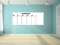 Magnetische Whiteboardfolie Wochenplan weiß