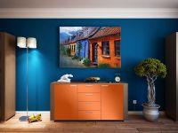 Möbelfolie für Kommode orange