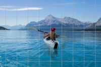 See mit Boot Fliesenbild