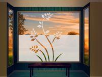 Sichtschutzfolie | Fensterfolie Blätterzweige | Blätterzweigeoptik