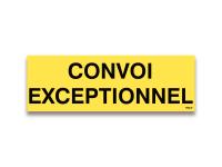 Reflektierendes Schild Convoi Exceptionnel