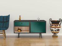 Möbelfolie für Sideboard dunkelgrün glänzend