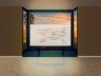Sichtschutzfolie | Fensterfolie Wellness Lounge | Wellness Lounge Optik