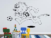 Löwe mit Fußball Wandtattoo