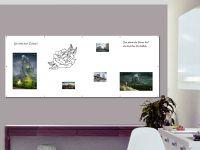 250 x 100 cm | Magnetisches Whiteboard | weiß mit Bohrungen