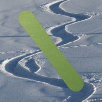 Snowabordfolie grün metallic matt