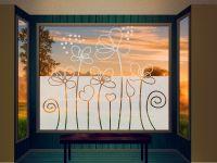 Sichtschutzfolie | Fensterfolie Blumenwiese | Blumenwiesenoptik