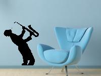 Saxophonist Wandtattoo