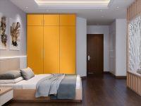 Möbelfolie für Schrank gelb glänzend