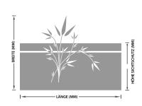 Sichtschutzfolie | Fenstertattoo Bambusgräser | Bambusgräseroptik