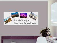80 x 30 cm | Selbstklebende magnetische Whiteboardfolie | Whiteboard | weiß