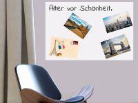 60 x 40 cm | Selbstklebende magnetische Whiteboardfolie | Whiteboard | weiß