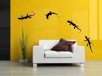 Geckos Wandtattoo | 6 Geckos verschieden positionierbar