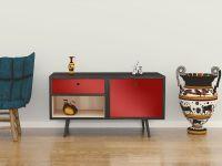 Möbelfolie für Sideboard dunkelrot glänzend