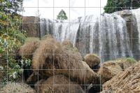 Vietnamesischer Wasserfall Fliesenbild