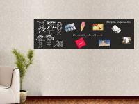 200 x 60 cm   Selbstklebende magnetische Tafelfolie   Kreide und Kreidestift   schwarz