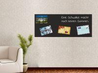 100 x 40 cm | Hochwertige selbstklebende magnetische Tafelfolie | Kreide und Kreidestift | schwarz Vorschau1