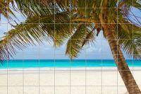 Strand am Meer mit Palme Fliesenbild