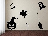 Halloweenset 3 Wandtattoo