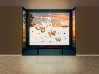 Sichtschutzfolie | Fensterfolie Schmetterling | Schmetterlingsoptik