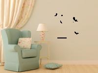 Vogelkäfig Wandtattoo
