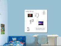 120 x 120 cm | Magnetisches Whiteboard | weiß mit Bohrungen