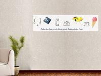80 x 20 cm (2 Stk) | Selbstklebende magnetische Whiteboardfolie | Whiteboard | weiß