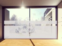 Sichtschutzfolie | Fensterfolie Pusteblume von oben | Pusteblumenmotiv