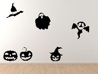 Halloweenset 4 Wandtattoo