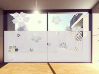 Sichtschutzfolie | Blickschutz Blüten | Blütenmotiv