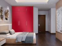 Möbelfolie für Schrank karminrot glänzend
