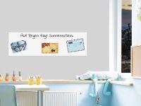 100 x 30 cm | Selbstklebende magnetische Whiteboardfolie | Whiteboard | weiß