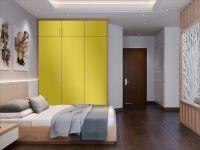 Möbelfolie für Schrank zitronengelb glänzend
