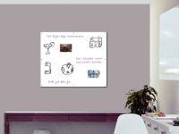 120 x 100 cm | Magnetisches Whiteboard | weiß mit Bohrungen
