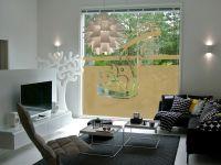 Sichtschutzfolie | Glasbanner Wellenornament | Wellenornament