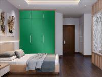 Möbelfolie für Schrank mittelgrün glänzend