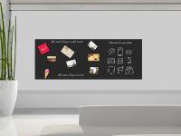 100 x 80 cm | Hochwertige selbstklebende magnetische Tafelfolie | Kreide und Kreidestift | schwarz Vorschau1
