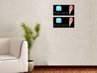 40 x 20 cm (2 Stk) | Hochwertige selbstklebende magnetische Tafelfolie | Kreide & -stift | schwarz Vorschau1