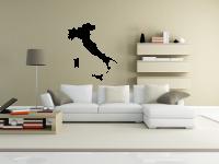 Italien Kartenumriss Wandtattoo