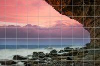 Steinküste Fliesenbild
