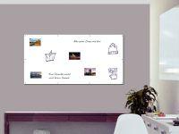 180 x 90 cm | Magnetisches Whiteboard | weiß mit Bohrungen