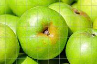 Grüner Apfel Fliesenbild