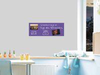 80 x 30 cm | Selbstklebende, bunte, magnetische Farbfolie | Whiteboard + Tafel Ersatz lila Vorschau