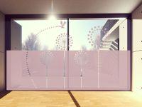 Sichtschutzfolie | Fenstertattoo im Pusteblumen-Design | Pusteblumenoptik