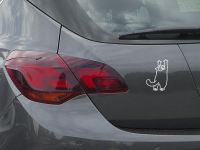 Katze auf Hinterbeinen stehend Autoaufkleber